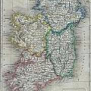 1822 Butler Map Of Ireland Art Print