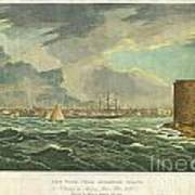 1825 Wall And Hill View Of New York City From The Hudson River Port Folio Art Print