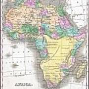 1827 Finley Map Of Africa Art Print