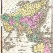 1827 Finley Map Of Asia And Australia Art Print