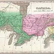 1827 Finley Map Of Canada  Art Print