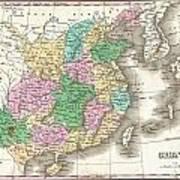 1827 Finley Map Of China  Art Print