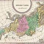 1827 Finley Map Of Russia In Asia Art Print