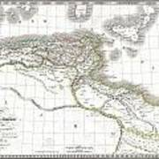 1829 Lapie Historical Map Of Empire Of Carthage Art Print