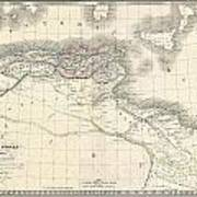 1829 Lapie Historical Map Of The Barbary Coast In Ancient Roman Times Art Print