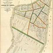 1831 Hooker Map Of New York City Art Print