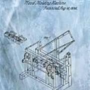 1836 Wood Molding Machine Art Print