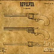 1837 Leavitt Revolver Patent Art 1 Art Print