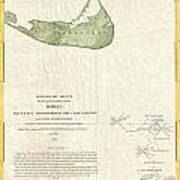 1846 Us Coast Survey Map Of Nantucket  Art Print by Paul Fearn