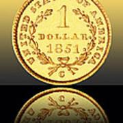 1851 1 Dollar Rare Charlotte Gold Print by Jim Carrell