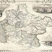 1851 Tallis And Rapkin Map Of Independent Tartary  Art Print