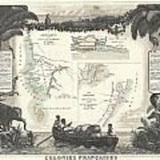 1852 Levassuer Map Of Senegal Senegambia And Madagascar Art Print