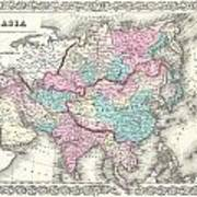 1855 Colton Map Of Asia Art Print