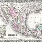 1855 Colton Map Of Mexico - Geographicus1855 Colton Map Of Mexico - Geographicus Art Print