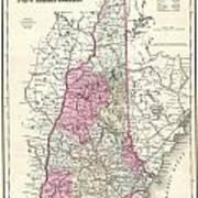 1857 Colton Map Of New Hampshire Art Print