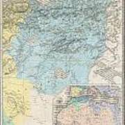 1857 Dufour Map Of Constantine Algeria Art Print