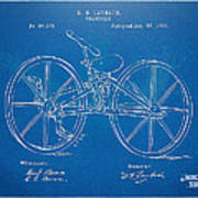 1869 Velocipede Bicycle Patent Blueprint Art Print