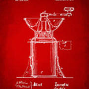 1873 Coffee Mills Patent Artwork Red Art Print