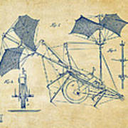 1879 Quinby Aerial Ship Patent Minimal - Vintage Art Print by Nikki Marie Smith
