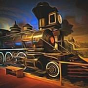 1880 Steam Locomotive  Art Print