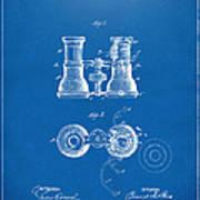 1882 Opera Glass Patent Artwork - Blueprint Art Print