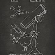 1886 Microscope Patent Artwork - Gray Art Print