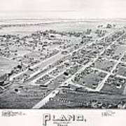 1890 Vintage Map Of Plano Texas Art Print