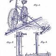 1891 Bicycle Patent Blueprint Art Print