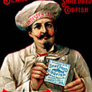 1895 Shredded Codfish Breakfast Art Print