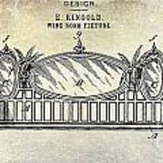 1895 Wine Room Fixture Design Patent Art Print
