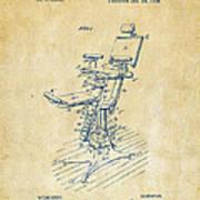1896 Dental Chair Patent Vintage Art Print