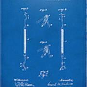 1896 Dental Excavator Patent Blueprint Art Print