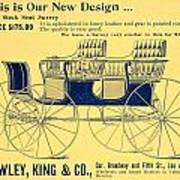 1898 - Hawley King And Company - Surrey Buggy Advertisement - Color Art Print