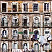 18th Century Building In Lisbon Art Print