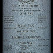 18th Infantry Regiment History Art Print