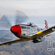 A P-51d Mustang In Flight Art Print