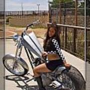 Models And Motorcycles Art Print