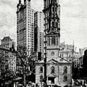 1900 St. Paul's Chapel New York City Art Print