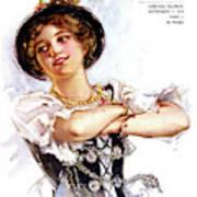 1900s 1913 Smiling German Girl Wearing Art Print