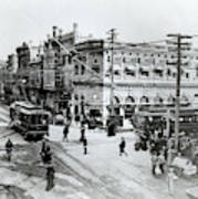 1900s Intersection Of Fair Oaks Art Print