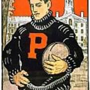 1901 - Princeton University Football Poster - Color Art Print