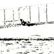 1902 Wright Brothers Glider Tests Art Print