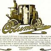 1903 - Columbia Motor Carriage Advertisement Art Print