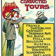 1904 Cooks Conduted Tours Vintage Travel Art Art Print