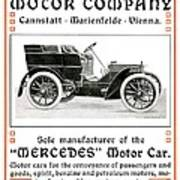 1904 - Daimler Motor Company Mercedes Advertisement - Color Art Print