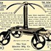 1905 - Yost Electric Manufacturing Company - Toldeo Ohio - Lawn Sprinkler Advertisement Art Print
