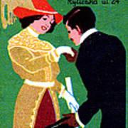 1905 Prague Fashion Poster Art Print