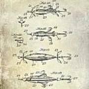 1907 Fishing Lure Patent Art Print