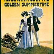 1908 - I'll Be With You In The Golden Summertime - Lew Bonner And J.j. Bachman - Sheet Music - Color Art Print