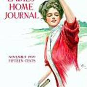 1909 - Ladies Home Journal Magazine Cover - November - Color Art Print